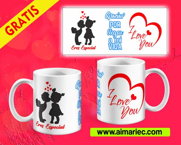 Plantilla taza eres especial (San Valentín)