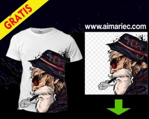 Camiseta estampada Dragon Ball Super Maestro Roshi