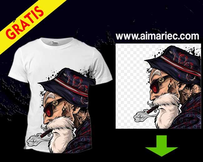 Camiseta estampada Dragon Ball Super Maestro Roshi