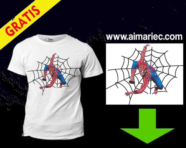 Camiseta Spiderman para niño (plantilla para sublimar)