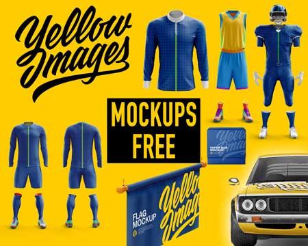 Descargar mockups gratis de Yellowimages