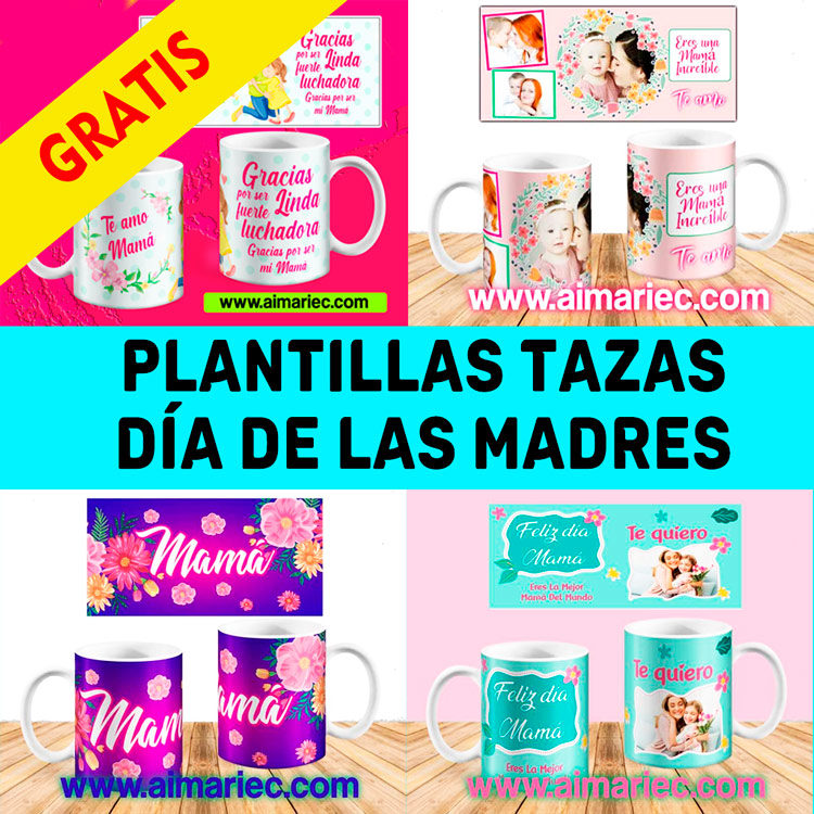 Plantillas tazas día de las madres descargar gratis photoshop psd