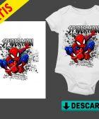 Body Pañalero Spiderman para bebé