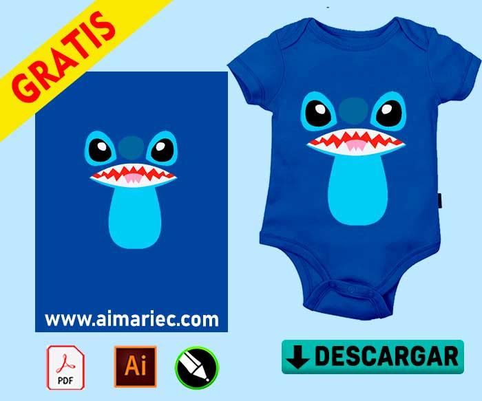 stitch body para bebé (plantilla-para-sublimar)