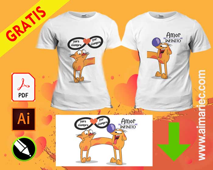 camisetas para novios infinito amor