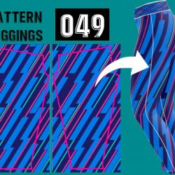 Leggings azul rayada deportiva