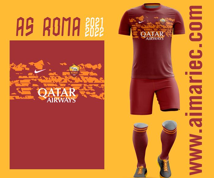 Uniforme as-roma-2021-22-Away-concept