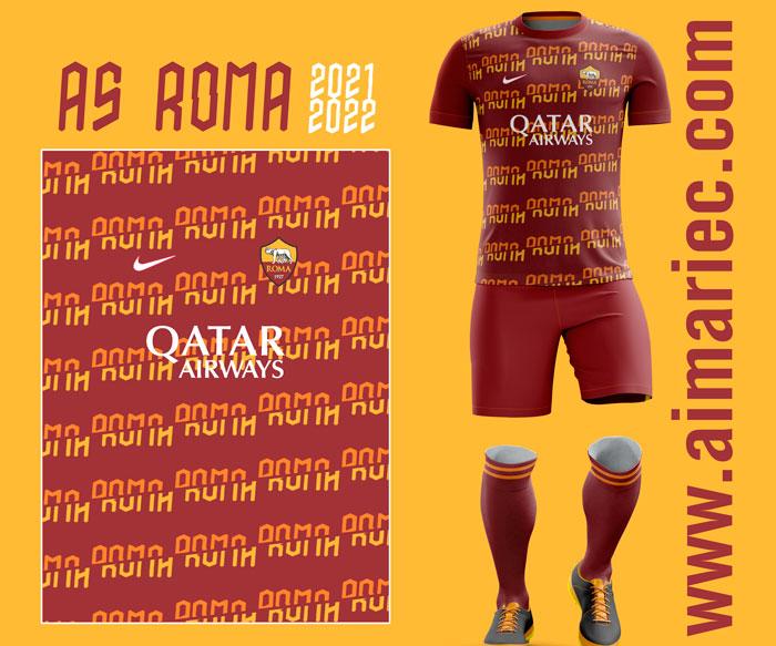 Uniforme As Roma 2021-22 Third concept